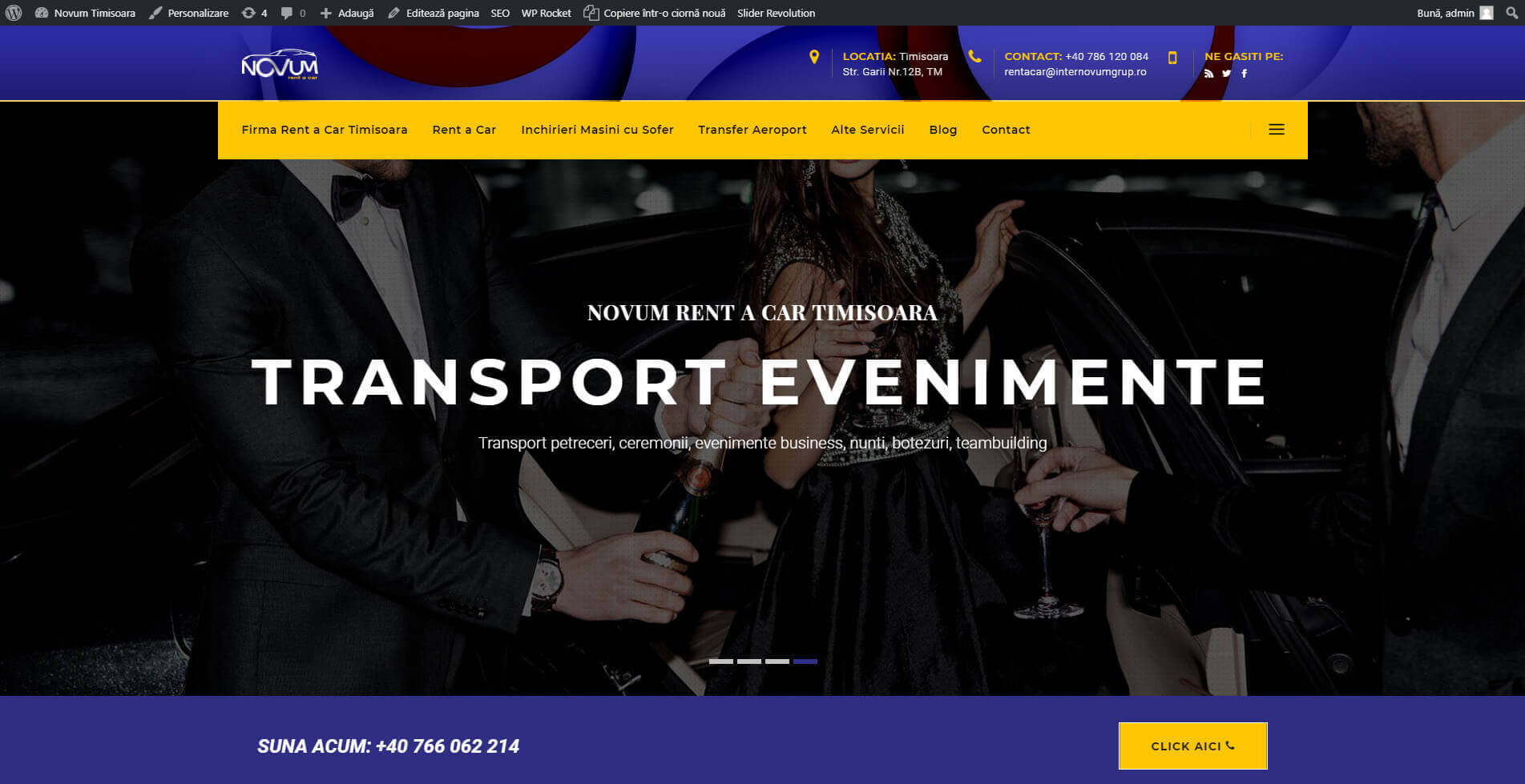 Web Design Timisoara - Novum Rent a Car