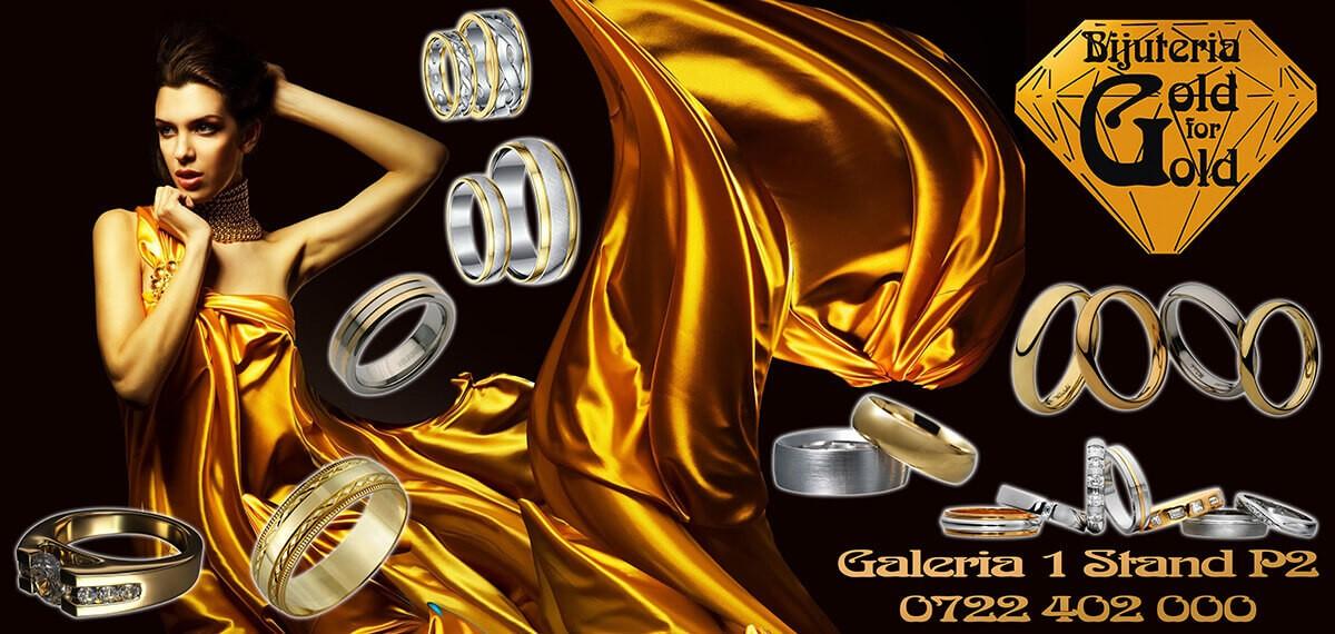 Graphic & Web Design Timisoara - Banner Gold For Gold