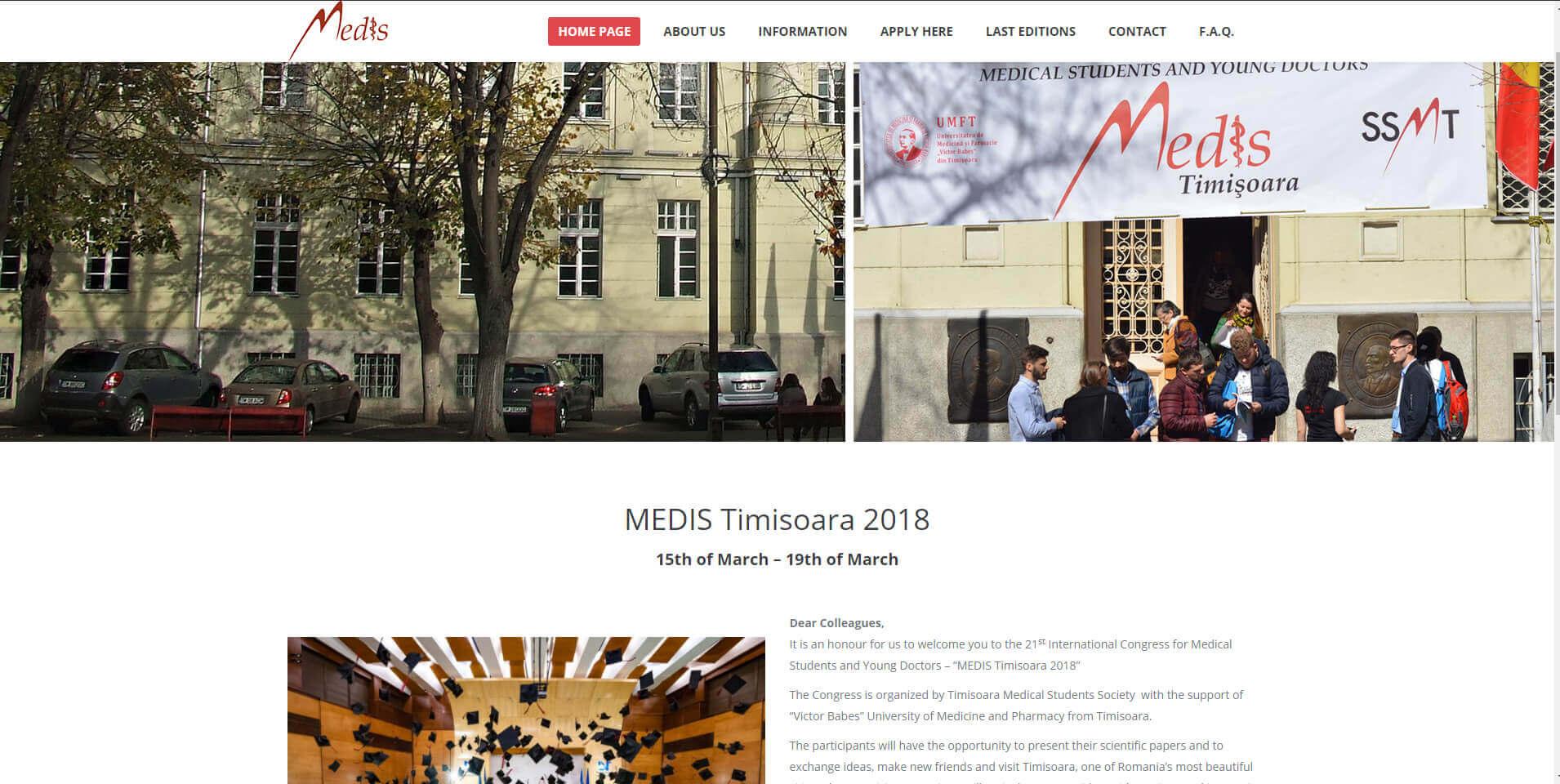Web Design Timisoara MedisTimisoara