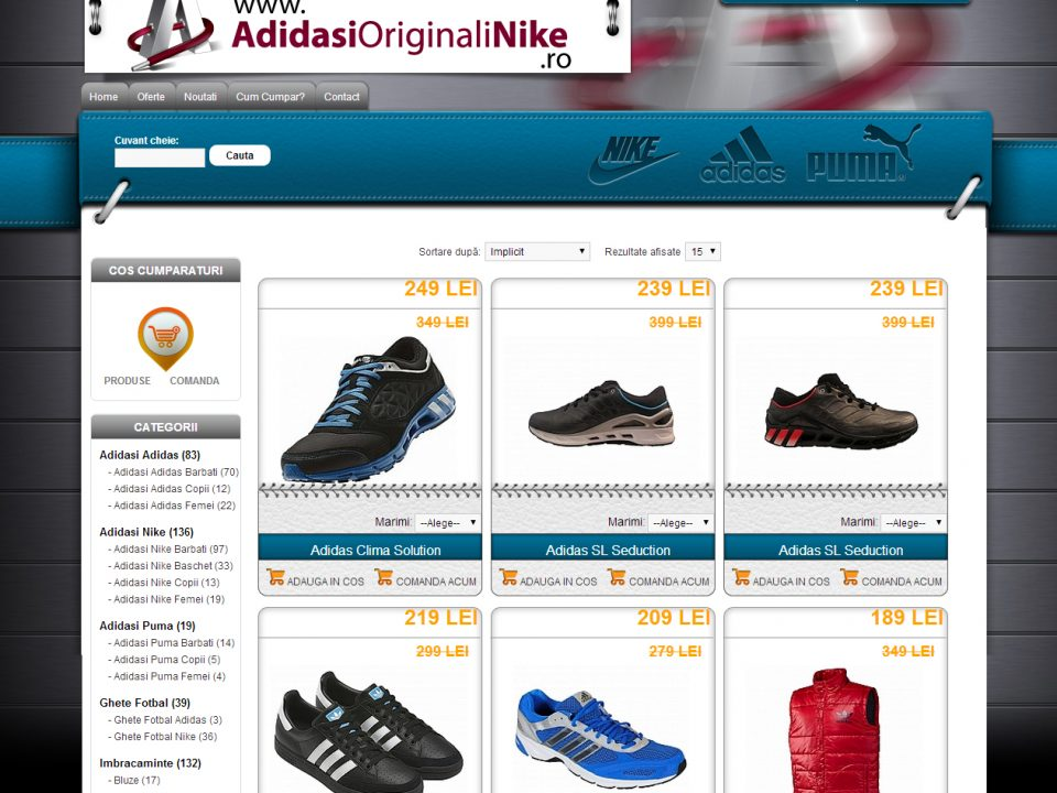 Optimizare SEO | Agentie Web Design Timisoara Adidasi Originali NIke
