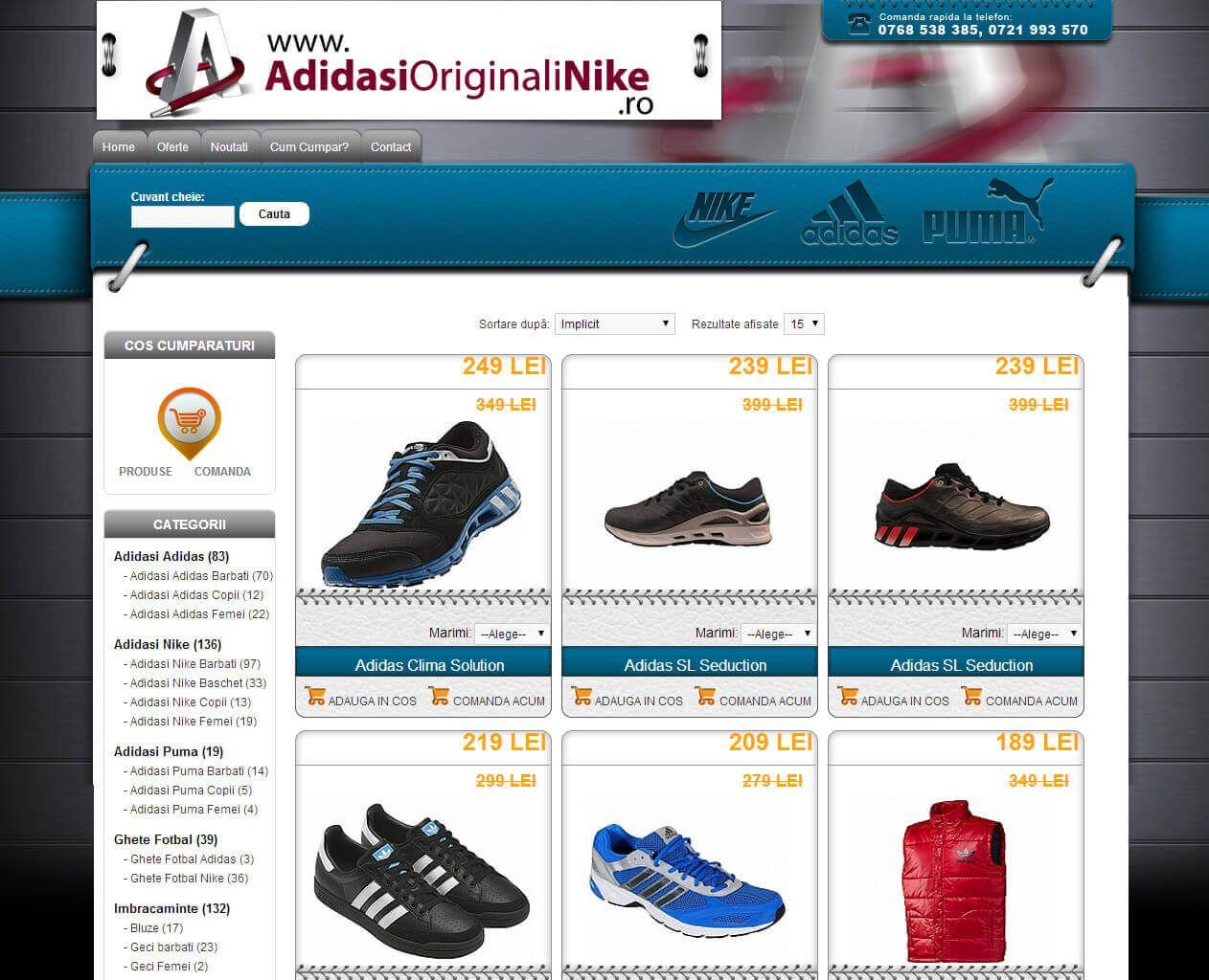 Web Design Timisoara Adidasi Originali Nike