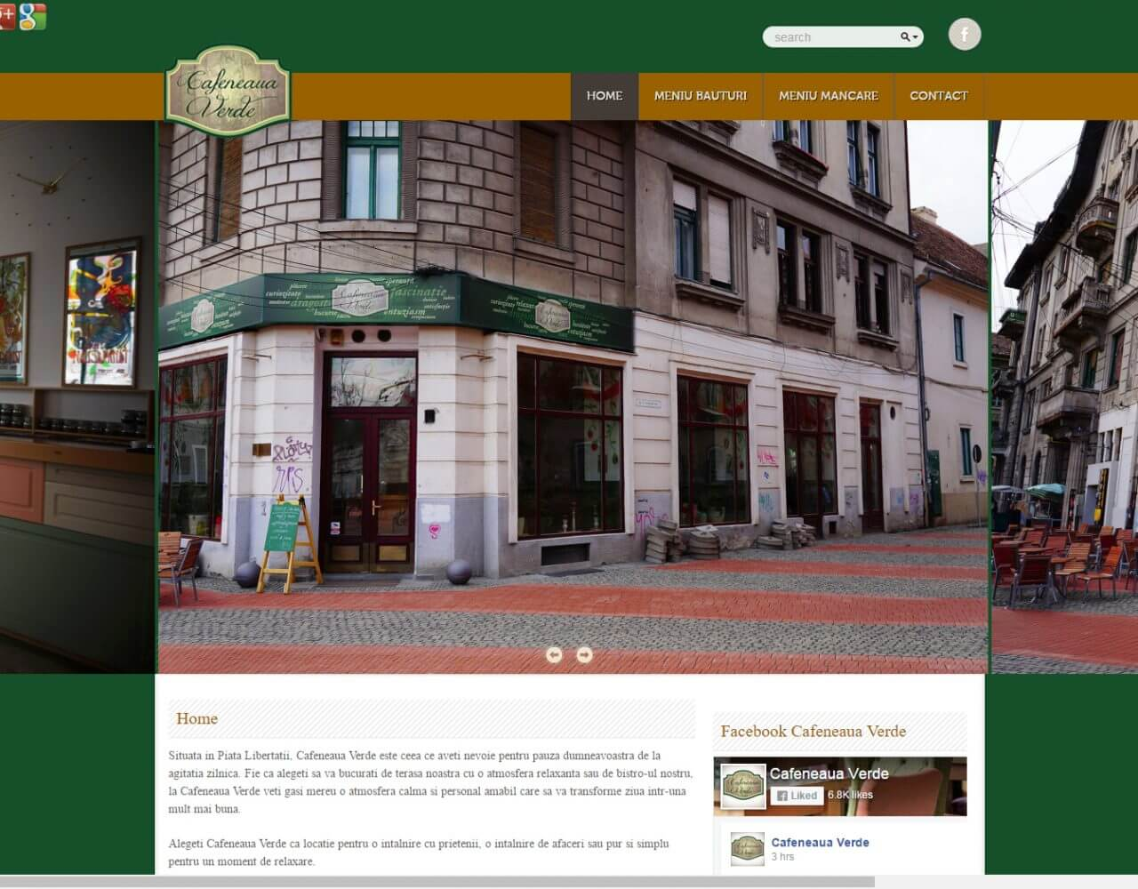 optimizare seo agentie web design timisoara cafeneaua verde