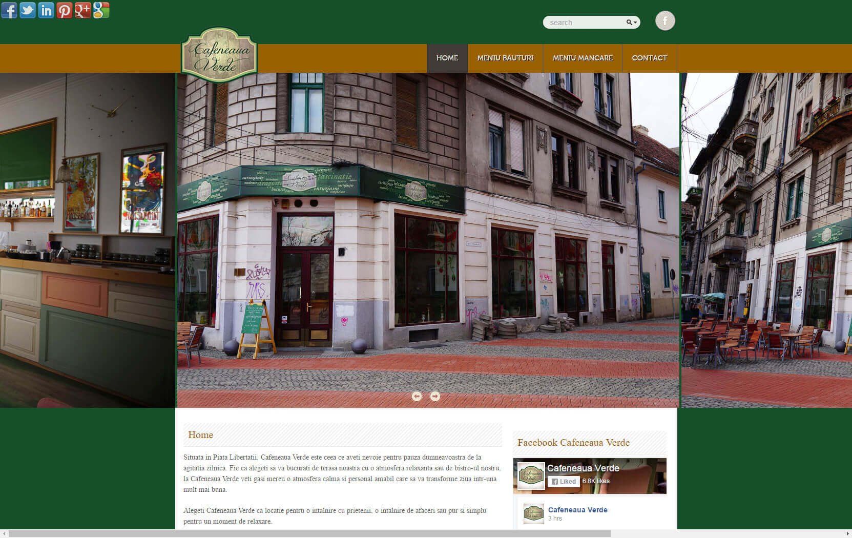 Web Design Timisoara Cafeneaua Verde