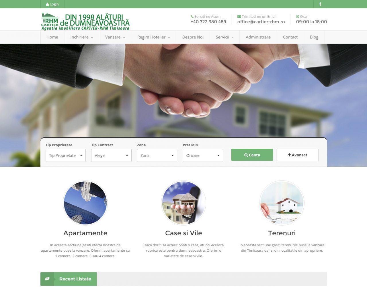 optimizare seo agentie web design timisoara cartier rhm