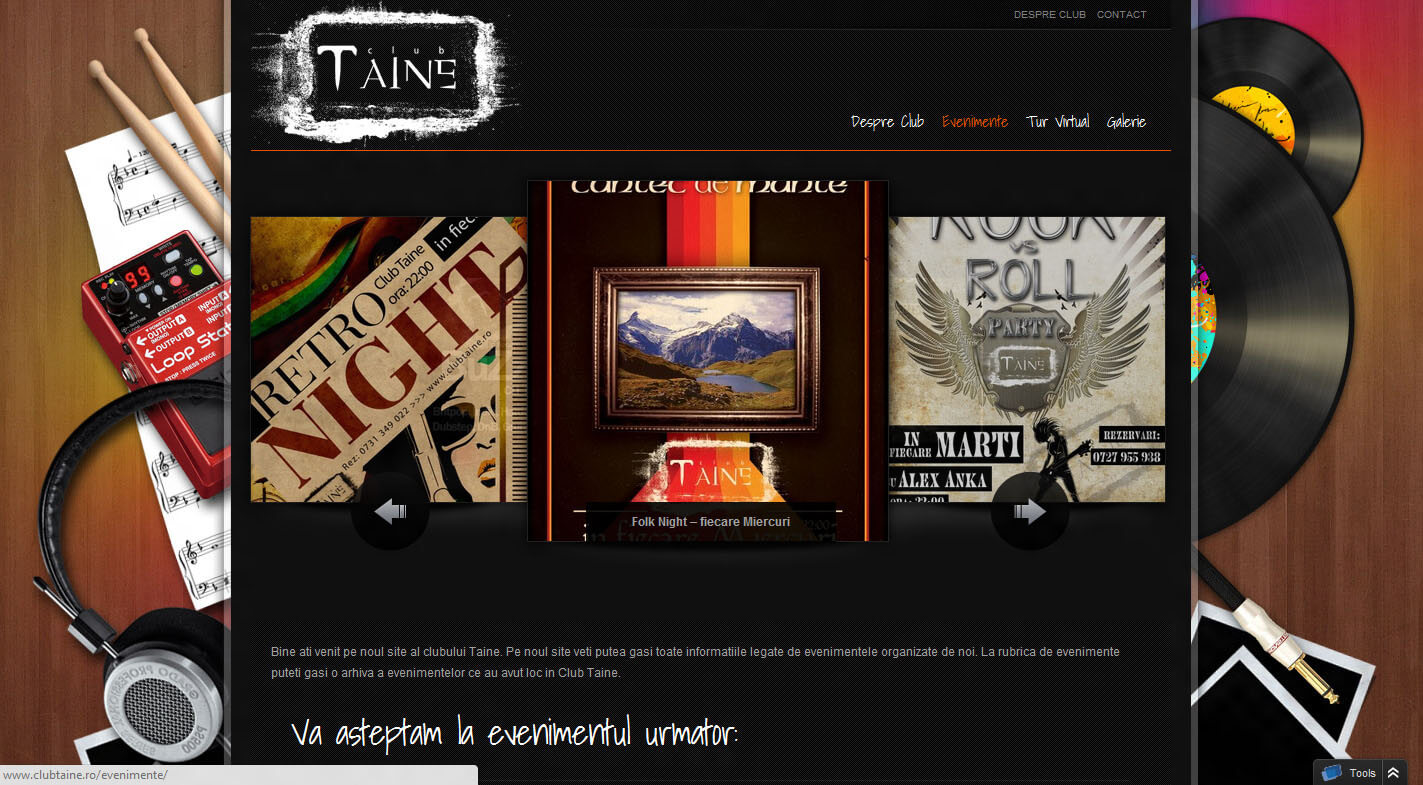 Web Design Timisoara Club Taine