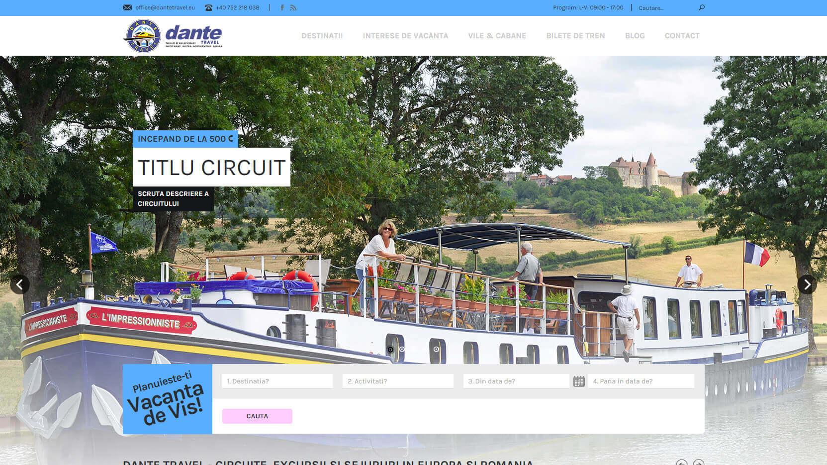 Web Design Timisoara Dante Travel