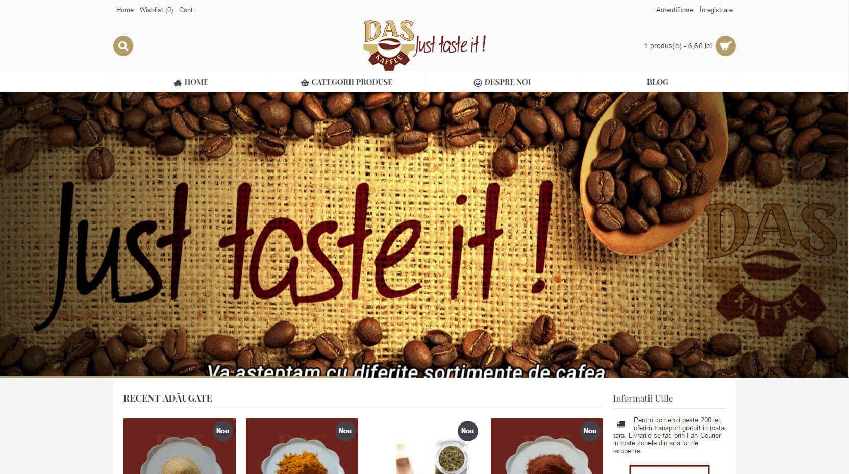 Web Design DasKaffee Timisoara