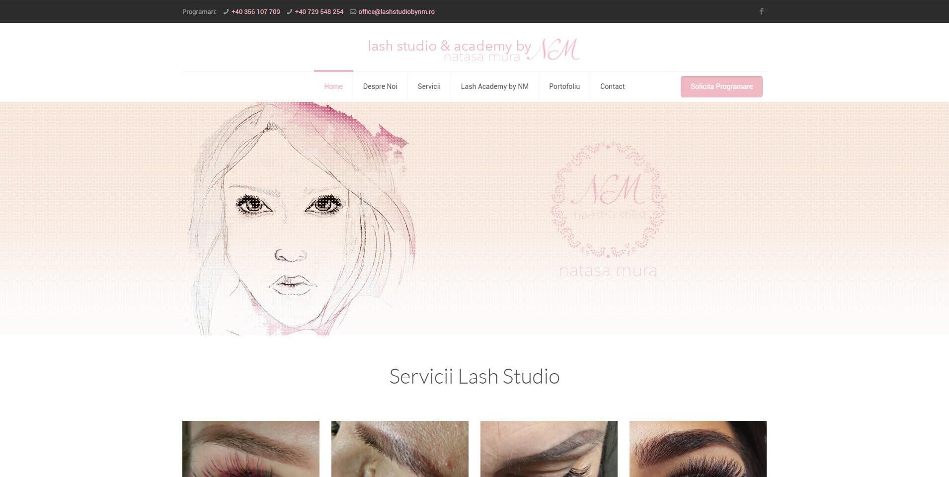 Web Design Timisoara LashStudio by NM