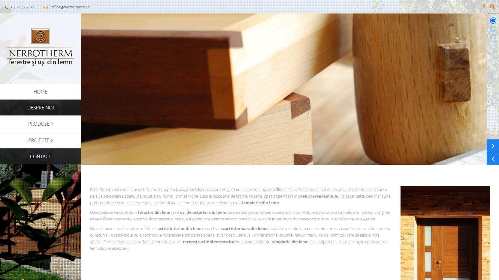 Web Design Timisoara NerboTherm