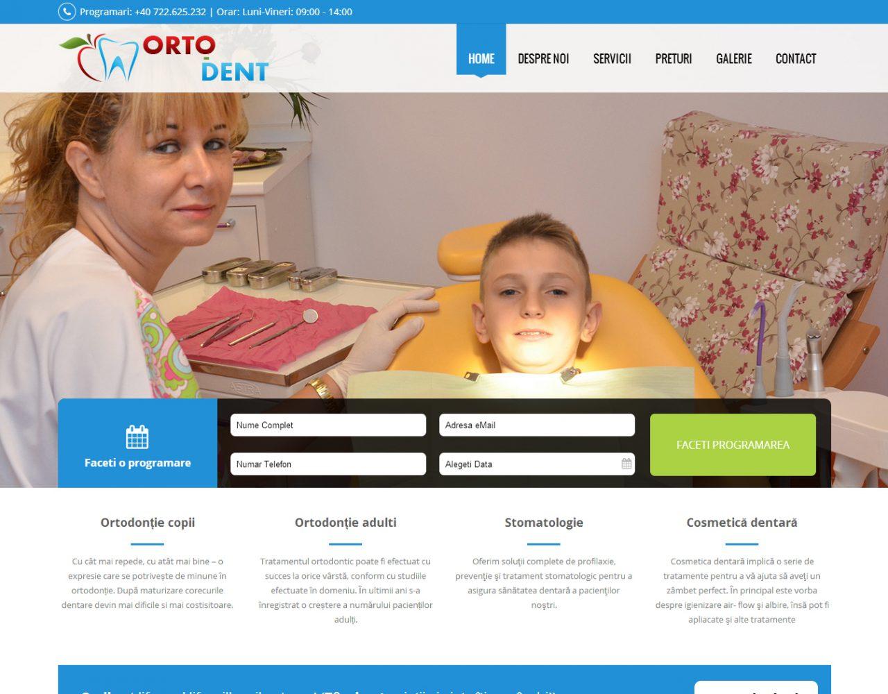 optimizare seo agentie web design timisoara ortodent