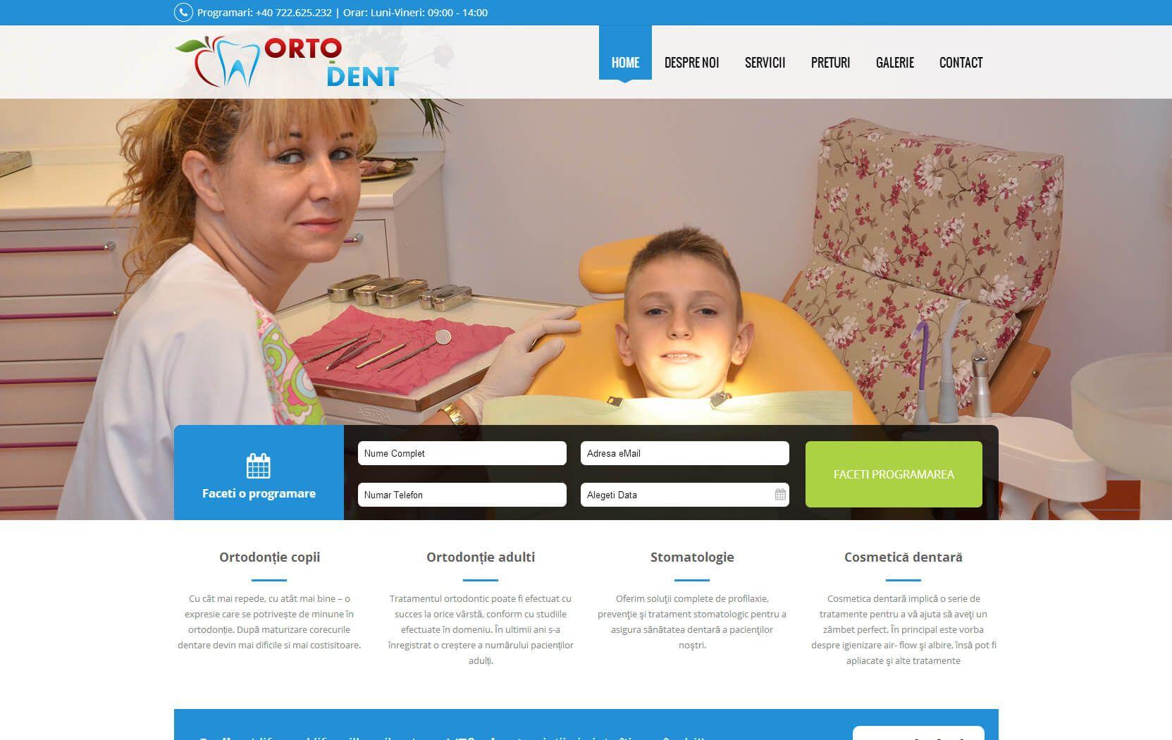 Web Design Timisoara OrtoDent