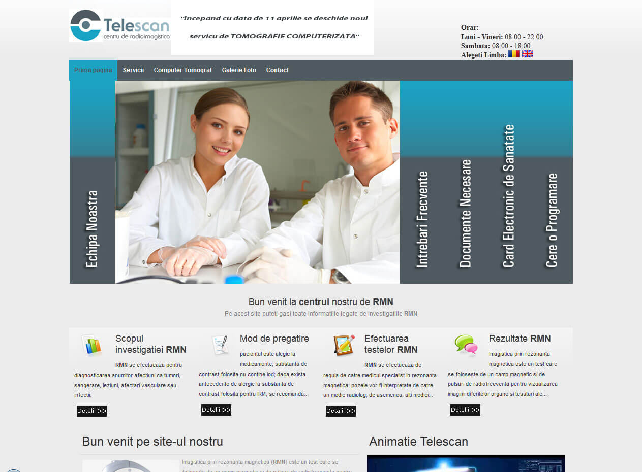optimizare seo agentie web design timisoara telescan