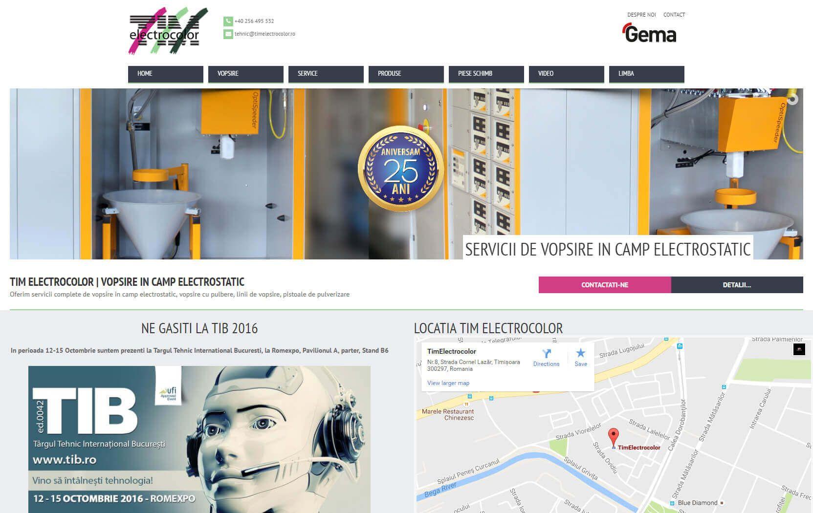 Web Design Timisoara Tim-Electrocolor
