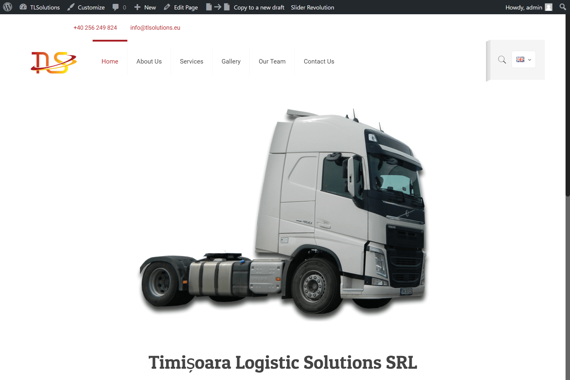 Web Design Timisoara Logistic Solutions