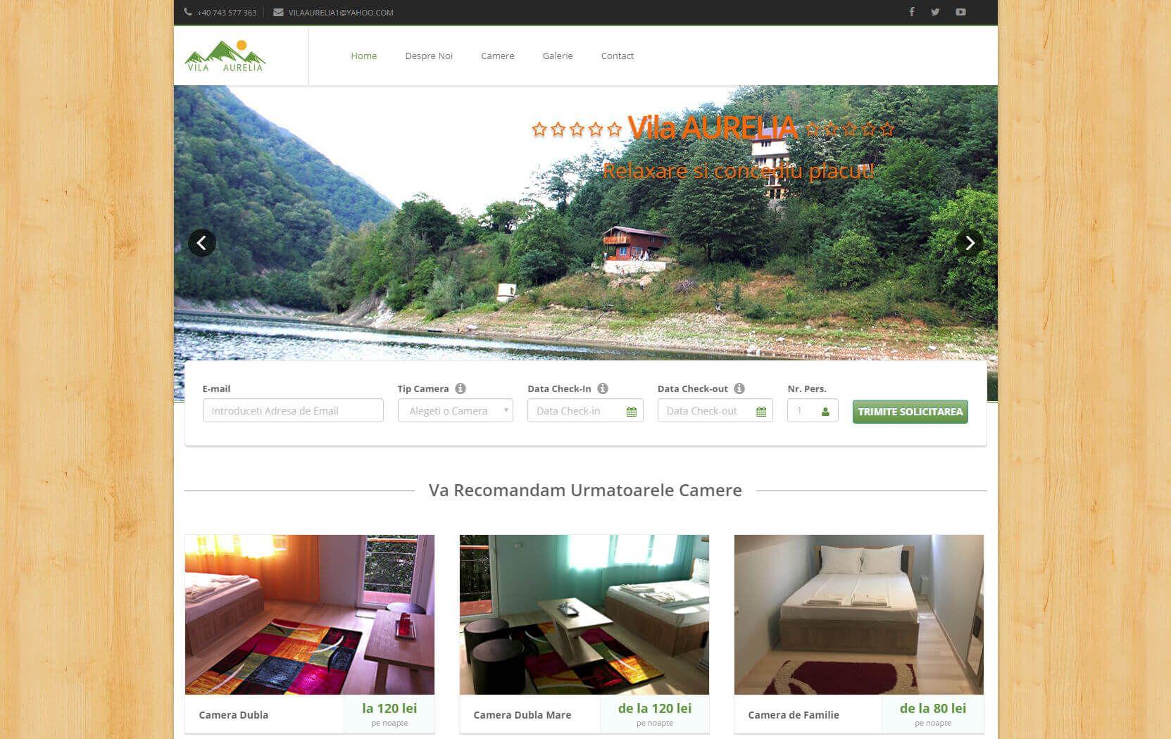 Web Design Timisoara Vila Aurelia