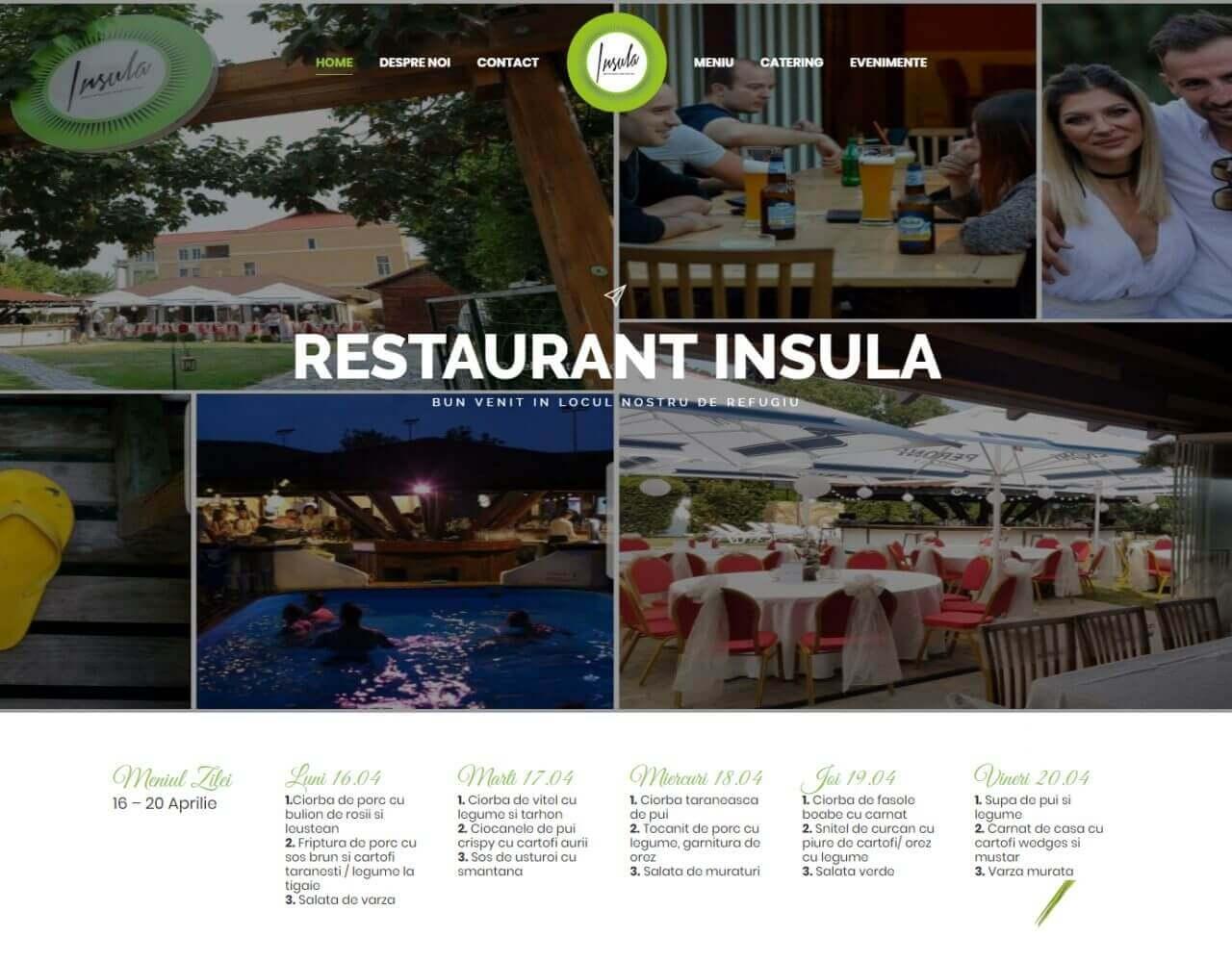 web design timisoara restaurant insula