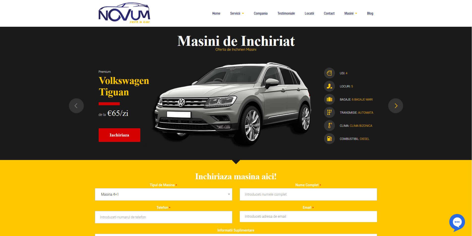 Web Design Timisoara Portofoliu Novum