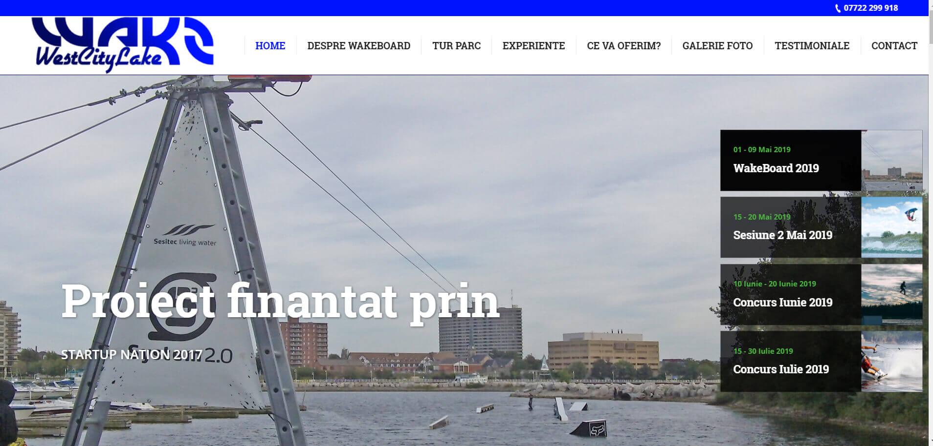 Web Design Timisoara West City Lake