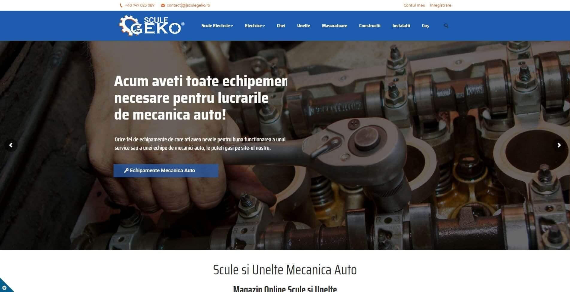 Web Design Timisoara Scule Geko
