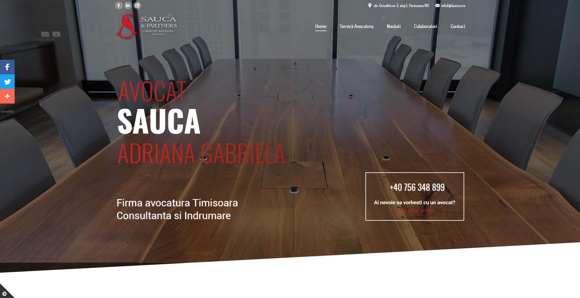 Web Design Timisoara - Avocat Sauca