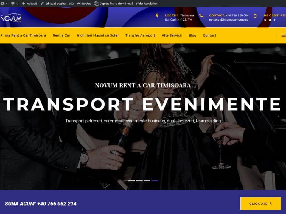 web design timisoara rent a car timisoara novum
