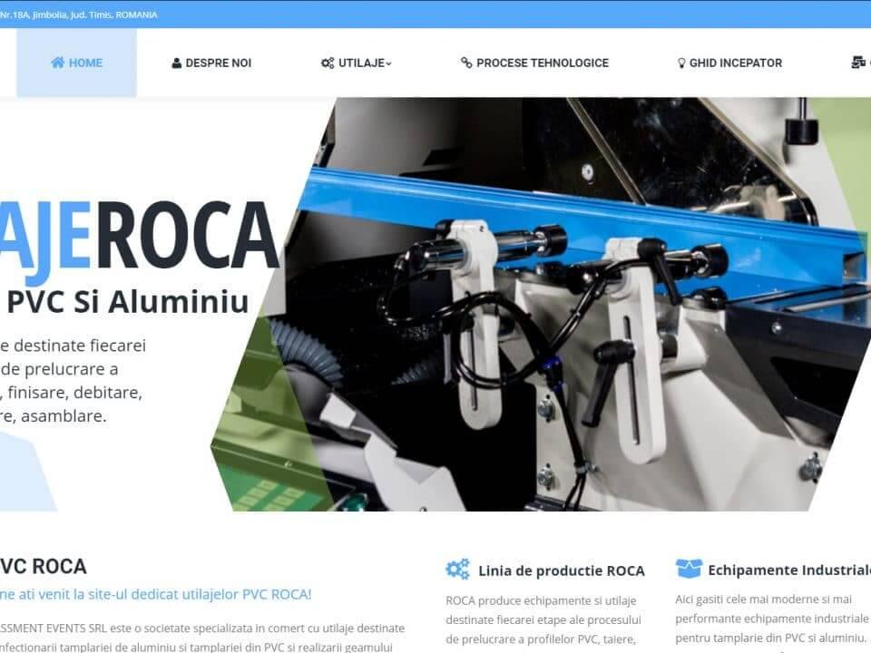 portofoliu web design utilaje roca