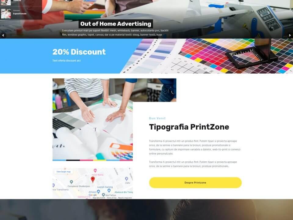 portofoliu agentie seo web design timisoara printzone